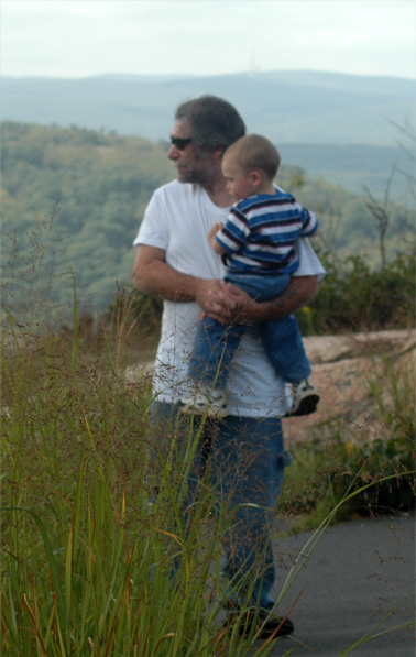 showing Derek the mountains on September 13, 2008, two days before he fell sick